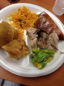 Pig. And avocado. And yuca. And pig. From Tropical BBQ & Lechonera.